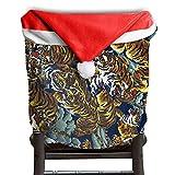Tiger Animal Christmas Chair Covers STYLISH Strong Chair Covers For Christmas For Men And Women Christmas Chair Back Covers Holiday Festive