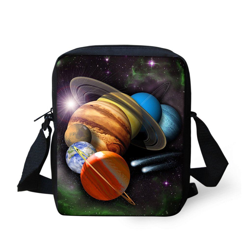 LedBack Cool Galaxy Little Messenger Bag for Boys Girls Outdoor Casual Handbag