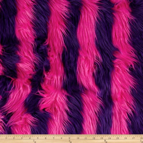 Pink And Purple Faux Fur - Shannon Fabrics Hot Pink/Purple Shannon Fun