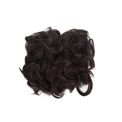 Amazon.com: haironline rizado corto plato Moño De Cabello ...