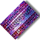Custom & Decorative {16'' x 10'' Inch} 1 Single, Large ''Gaming'' Flexible Non-Slip Mousepad for Gaming, Made Of Easy-Glide Neoprene w/ Aztec Patterns Galaxy Background & Stars [Pink, Purple & Blue]