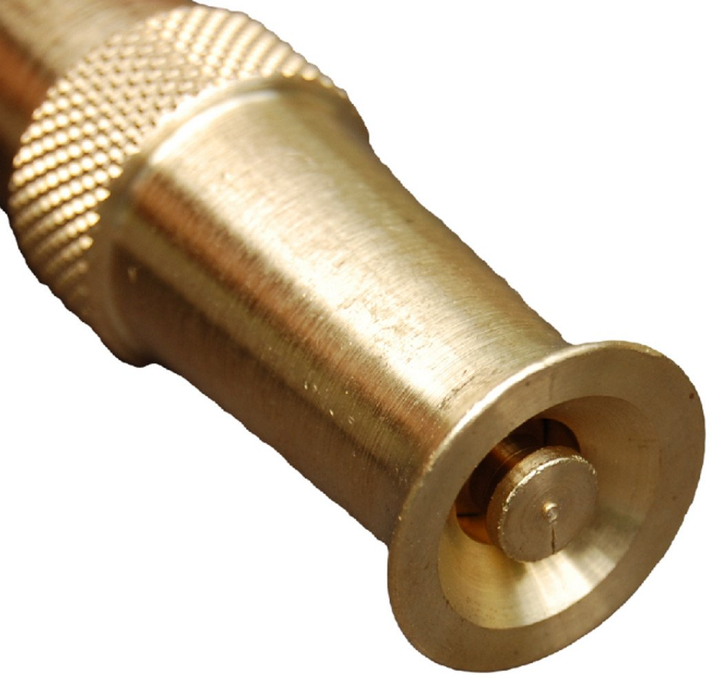 Amazon.com : Hose Nozzle ~ Solid Brass ~ Adjustable Spray Patterns ...
