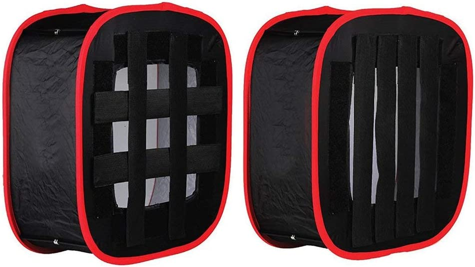 Led Soft Cover Photography Fill Light Honeycomb Soft Box Red Black Side Cover