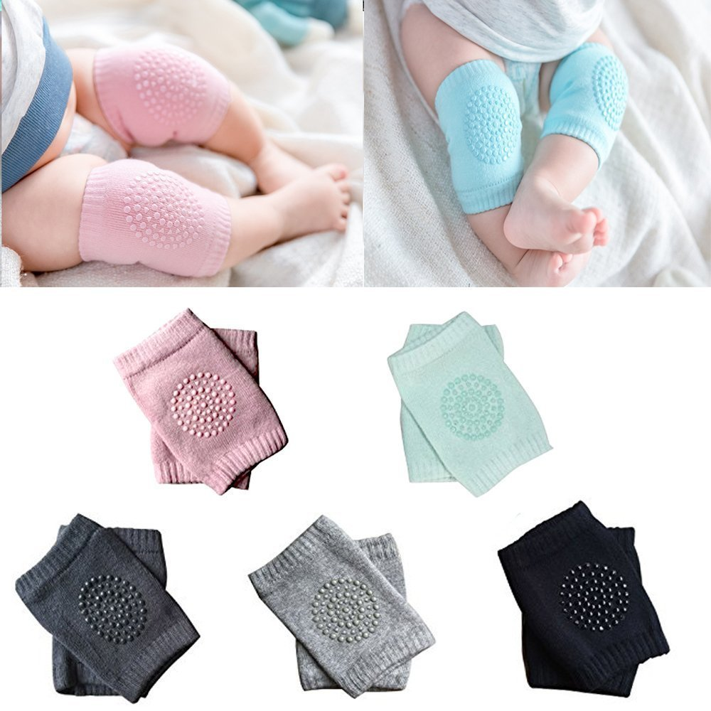 Baby Knee Pads - Crawling Knee Pads for Baby Infant Toddler by Hidetex(5 Pairs)