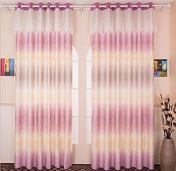 GFYWZ Beflockung Modern Minimalist Farbverlauf Duplexdruck Vorhänge Mädchen Schlafzimmer  Wohnzimmer Blackout Solide Thermische Geräusche Reduzieren Falten