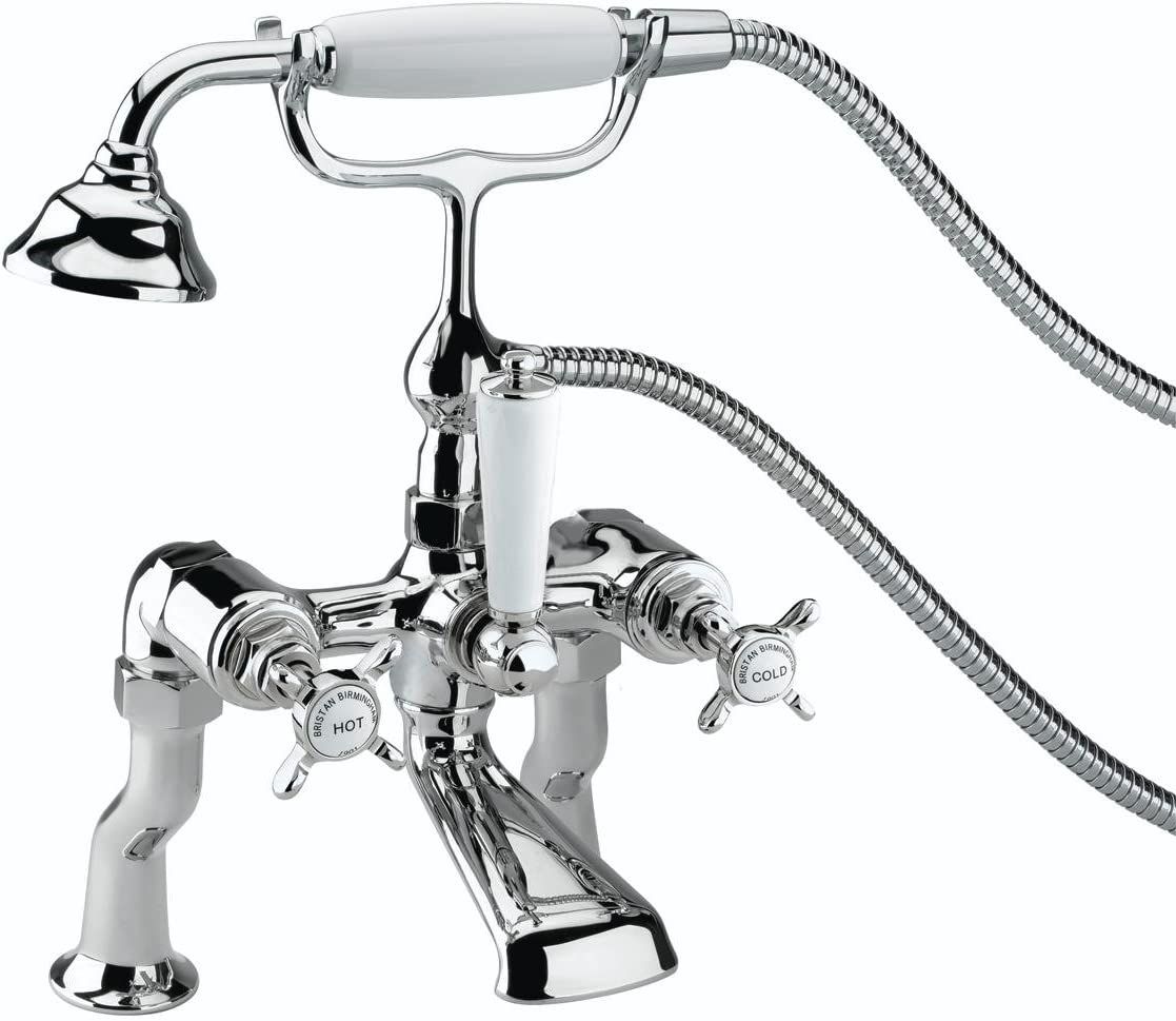 Bristan N LBSM C CD 1901 Luxury Pillar Bath Shower Mixer - Chrome