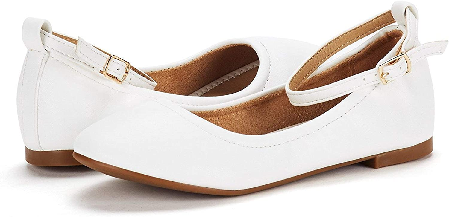 DREAM PAIRS Chaussures Ballerines Fille Plates Sole-Fina-K