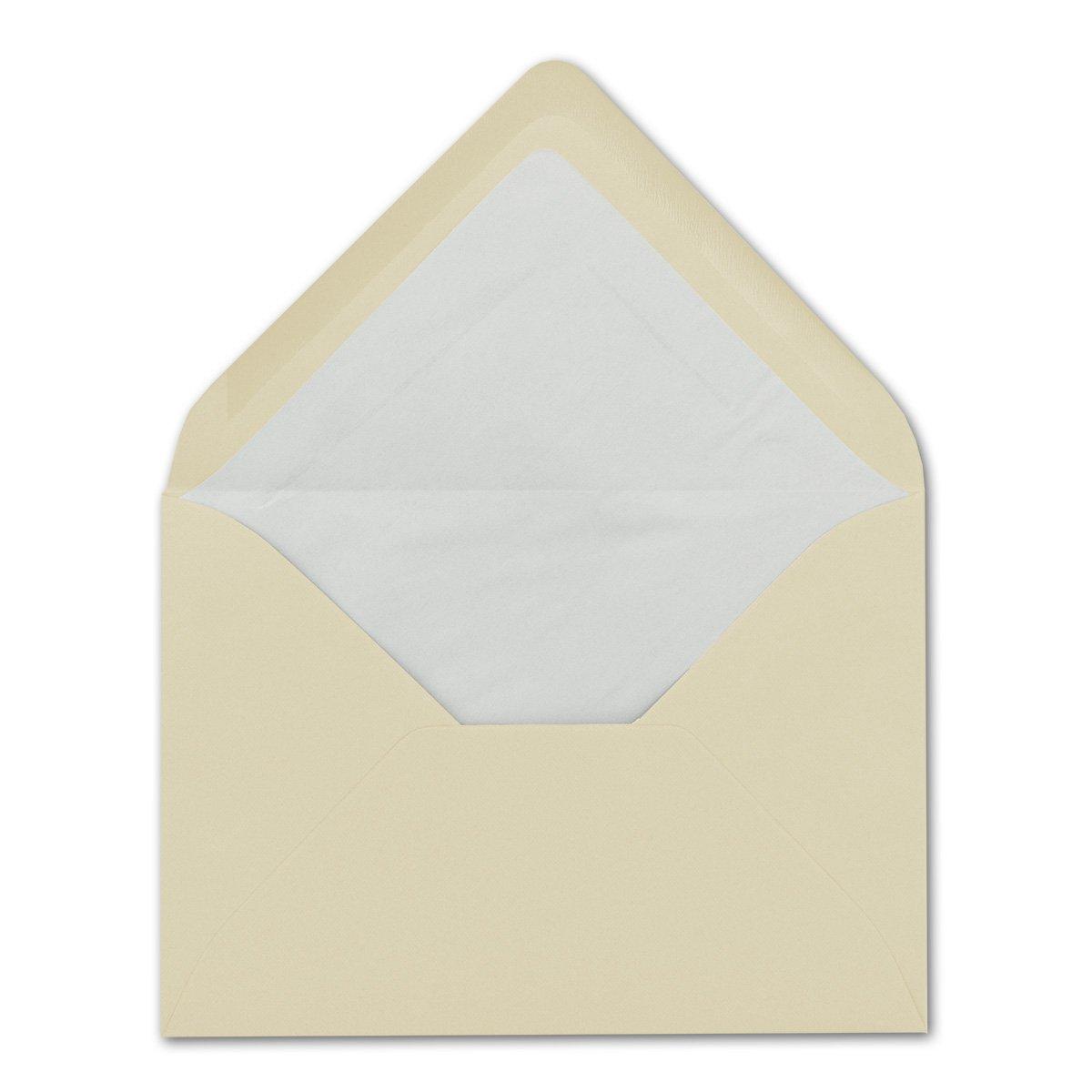 Briefumschläge in Naturweiss mit weißem Innenfutter   200 Stück Stück Stück   Farbige KuGrüns in DIN B6 Format 125 x 176 mm   Mit Seidenfutter   Nassklebung   Post-Umschläge ohne Fenster   Serie FarbenFroh B07415BJC1 | Vogue  213e6f