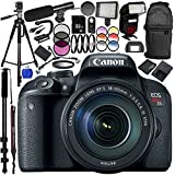 Canon EOS Rebel T7i DSLR Camera with 18-135mm Lens 24PC Accessory Bundle – Includes 32GB SD Memory Card + High Speed Card Reader + MORE