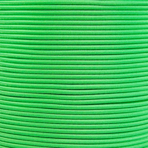 PARACORD PLANET 1/8 Inch Shock Cord - Choose from 10, 25, 50, and 100 Feet - Made in USA (Neon Green, 50 Feet) by PARACORD PLANET