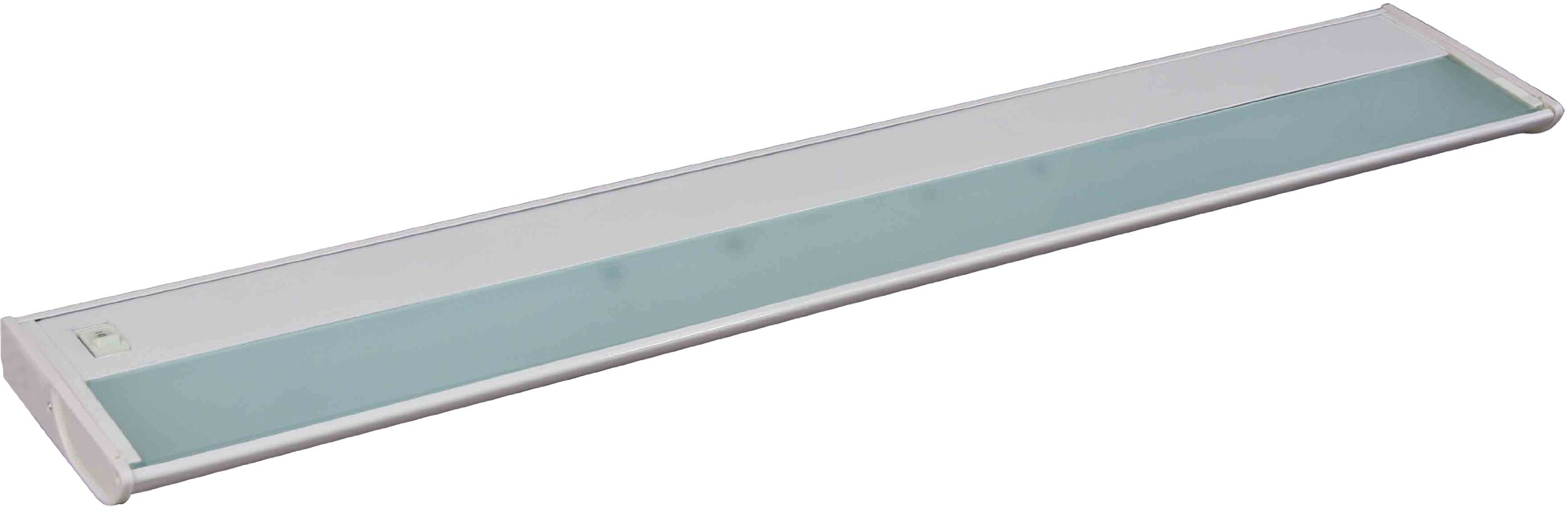 Maxim 87833WT CounterMax MX-X120 30'' 4-Light 120V Xenon, White Finish, Glass, G8 Xenon Xenon Bulb , 12W Max., Wet Safety Rating, 3000K Color Temp, ELV Dimmable, Glass Shade Material, 840 Rated Lumens