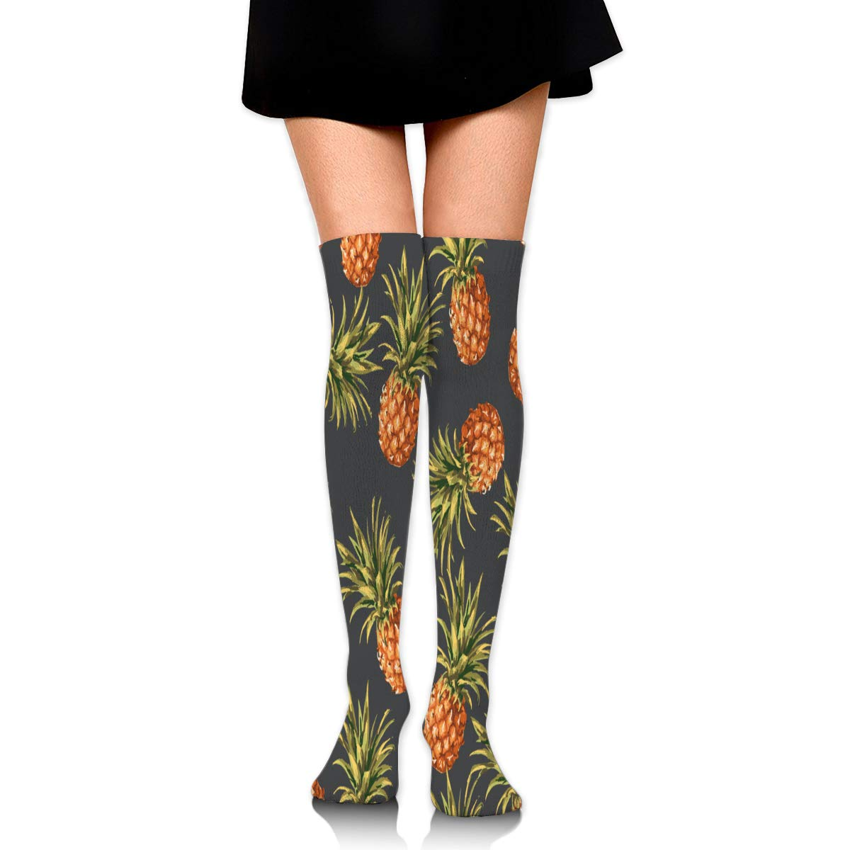 High Elasticity Girl Cotton Knee High Socks Uniform Funny Christmas Women Tube Socks