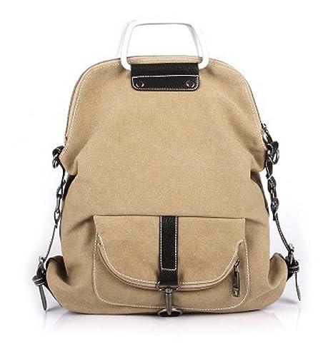 Women Canvas Backpack Girls Travel Sports School Shoulders Bag Rucksack Handbag