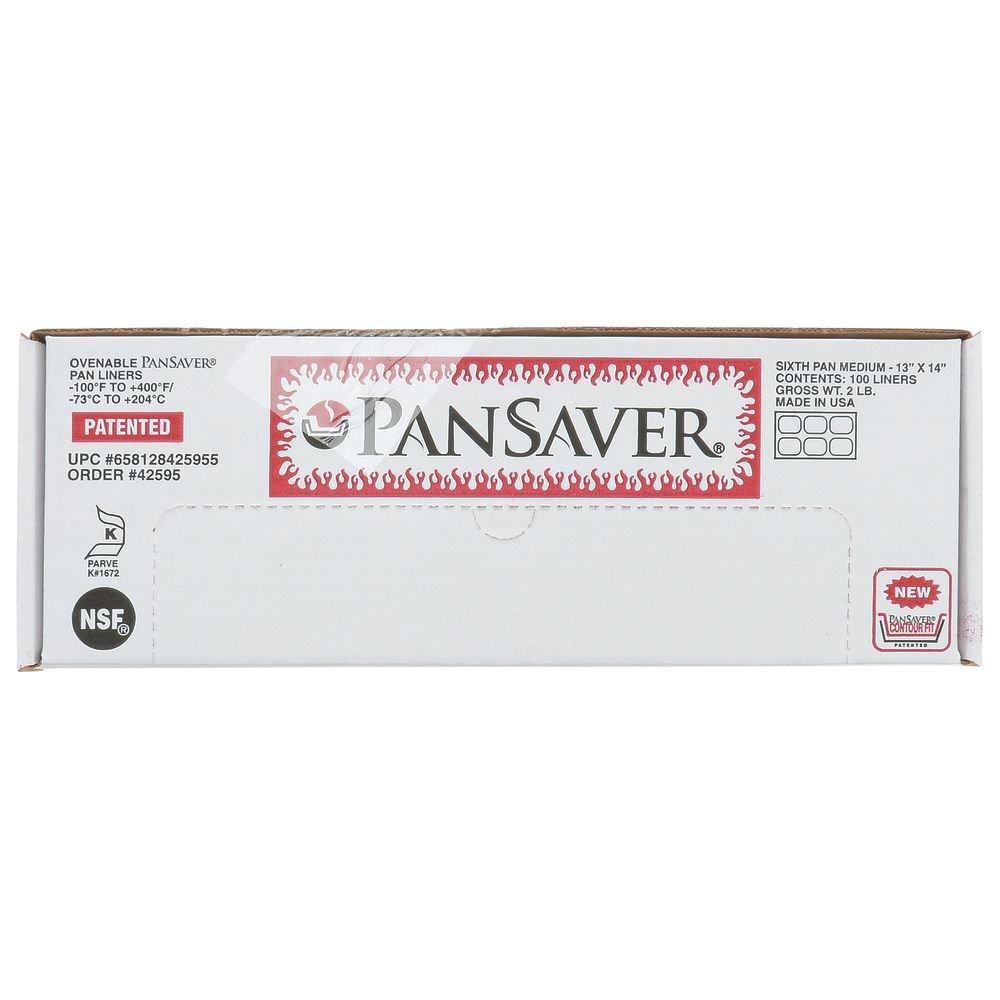 PanSaver Monolyn 1/6 Size Steam Table Pan Liner Clear Plastic - 6''D 100 Per Case