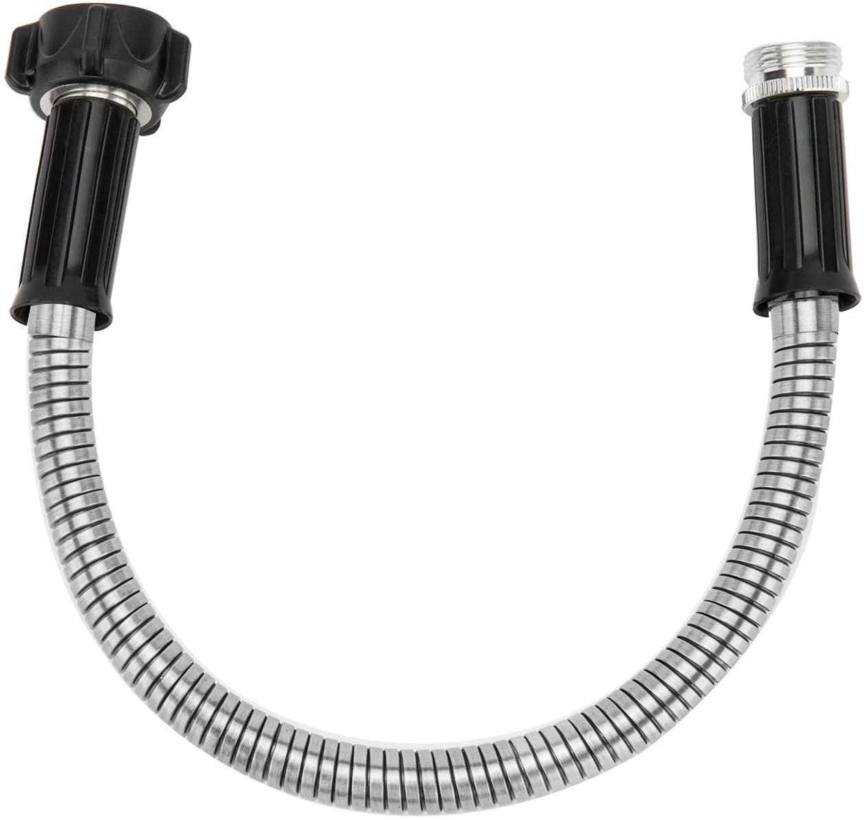 Yanwoo 304 Stainless Steel 1 Feet Short Garden Hose, Flexible Bathroom Hose, Portable Outdoor Hose