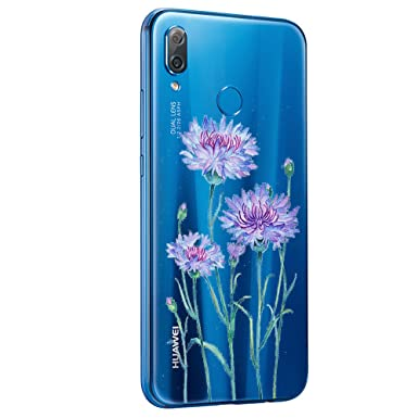 Teryei Funda Compatible con Huawei P20 Lite Carcasa Silicona Transparente Suave Case Original Protectora Cristal Flores Anti-Golpes Caso Anti-Rasguño ...