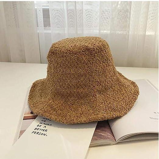 geiqianjiumai Sombrero de Punto Femenino de otoño e Invierno, niña Salvaje, Sombrero de Pescador Retro, Gorro de Cuenca, Ventilador de Arte Caqui M (56-58 cm): Amazon.es: Hogar