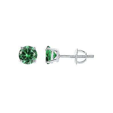 4c5247949efe7 Amazon.com: Diamond Scotch Jewelry 14k White Gold Over 5mm 0.95 ct ...