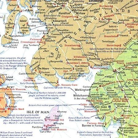 National Geographic: Mapa de viajeros de las Islas Británicas 1974 - Serie histórica de mapas de pared - 23 x 32.75 pulgadas - Papel enrollado: Amazon.es: Oficina y papelería