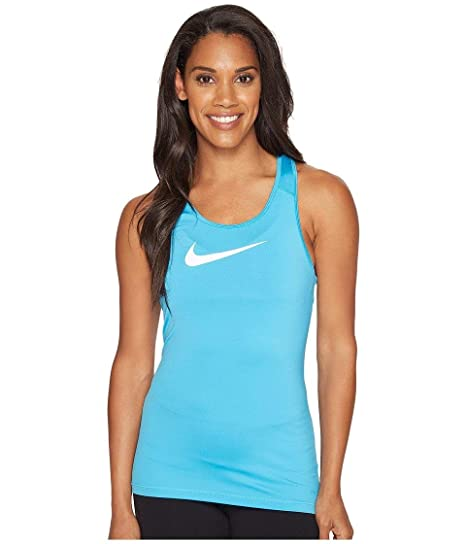 674ee35e5b24d0 Buy Nike Womens Pro Cool Training Tank Top Lt Blue Fury White 725489-447  Size Medium Online at Low Prices in India - Amazon.in