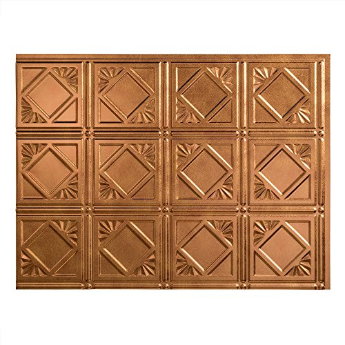 Fasade Easy Installation Traditional 4 Antique Bronze Backsplash Panel for Kitchen and Bathrooms (18