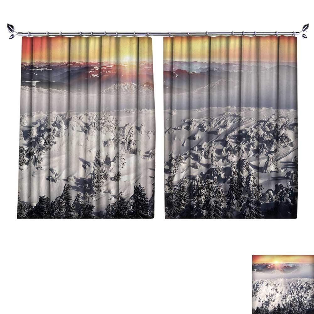 DESPKON Active Printing Fabric Polyester Material Severe Weather threatening,Menacing and Frightening Ukraine Karpaty Montenegrin for Cartoon Children's Room W108 x L108