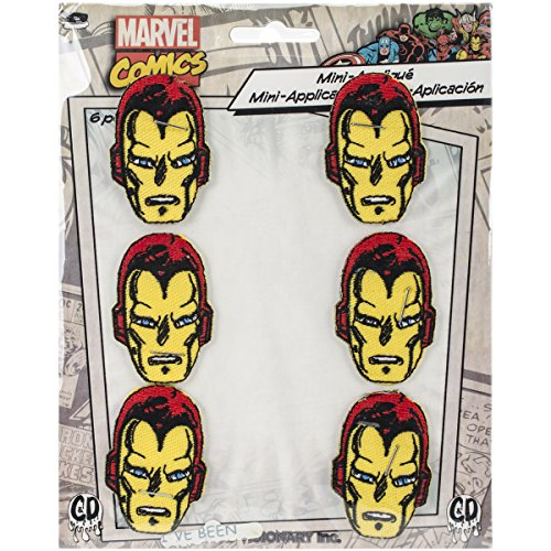 Appeal Marvel Comics Retro Iron Man 6 Pat Ch Set Novelty, 2""