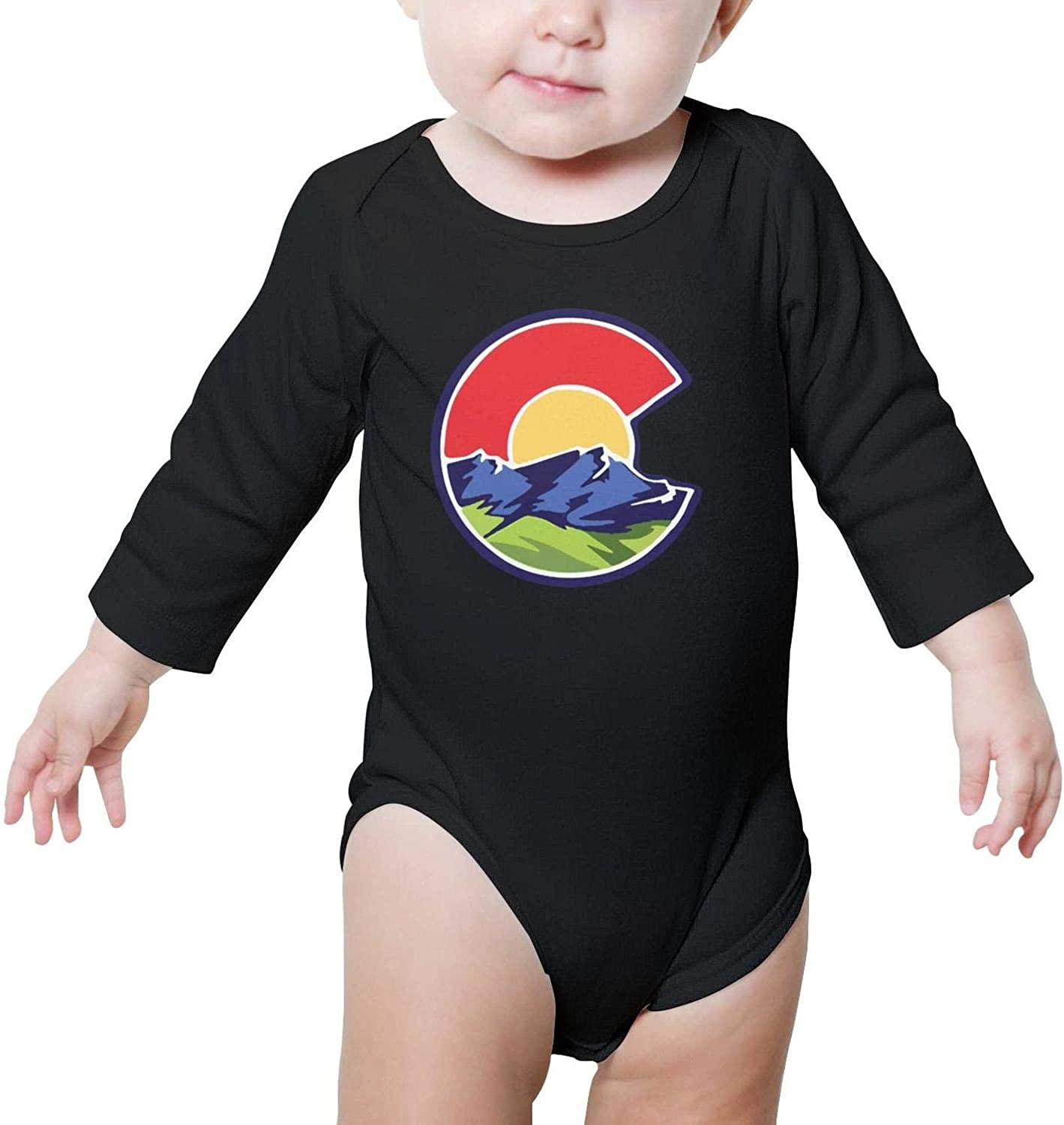 SHUOCDAH Colorado Flag C Baby Boys Girls Fashion Baby Onesies