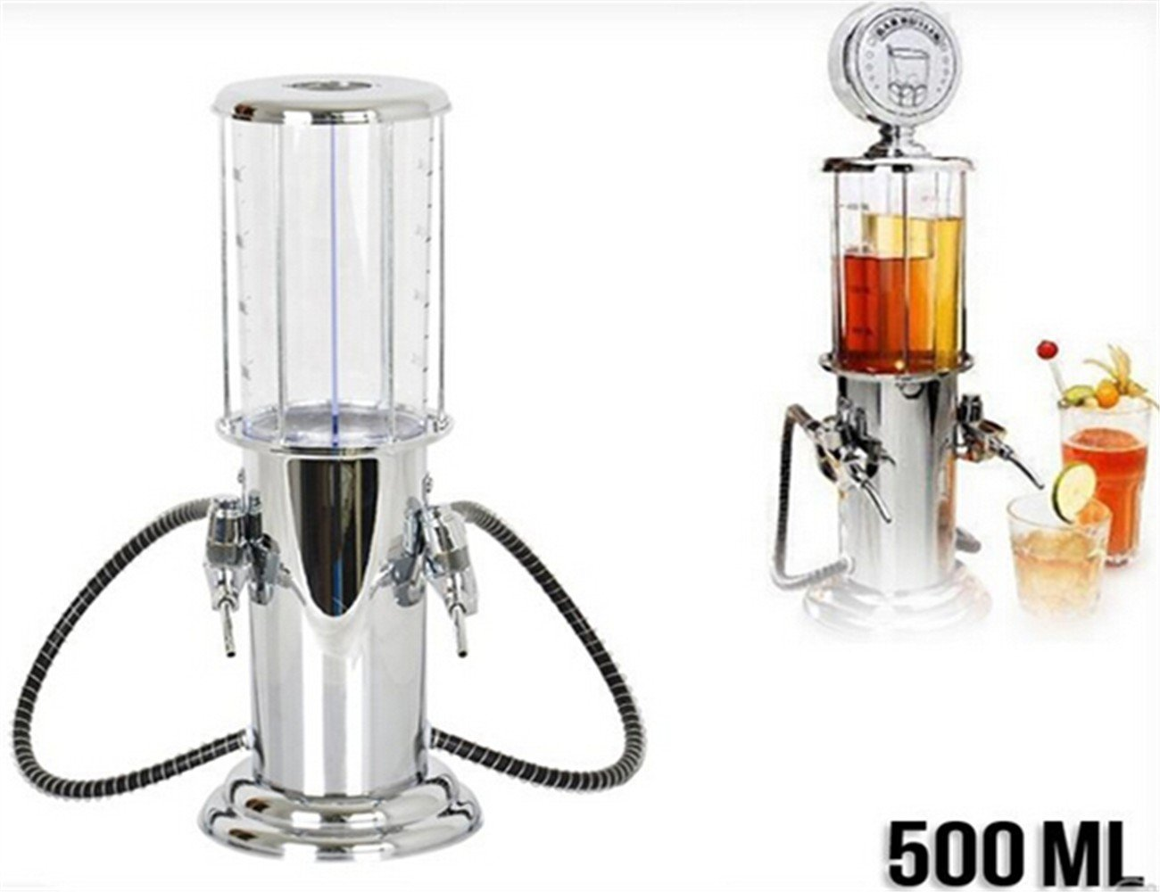 500 ml Dispensador de bebida doble pistola de licor cerveza y diseño Gas Station: Amazon.es: Hogar