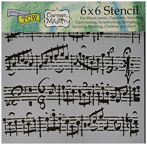Workshop Crafters - CRAFTERS WORKSHOP TCW6X6-579 Sheet Music Crafter's Workshop Template, 6 by 6