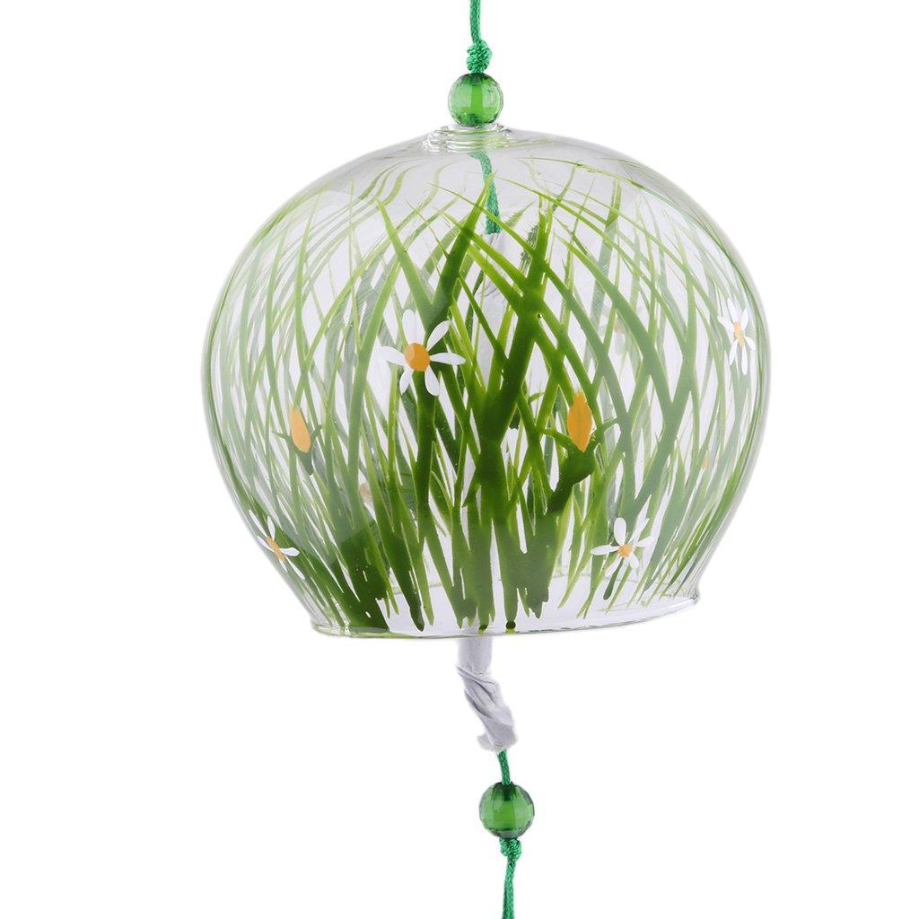 Baoblaze Japanese Wind Bell Wind Chimes Handmade Glass Furin Home Decors Spa Decor Kitchen Decor Office Decor as described 8