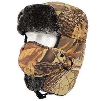 RANRANHOME Sombrero de Invierno Gorra Camuflaje esquí Soldado Caza Tiempo frío Oreja Cazadores Tapa/Franela Suave,Brown: Amazon.es: Deportes y aire libre