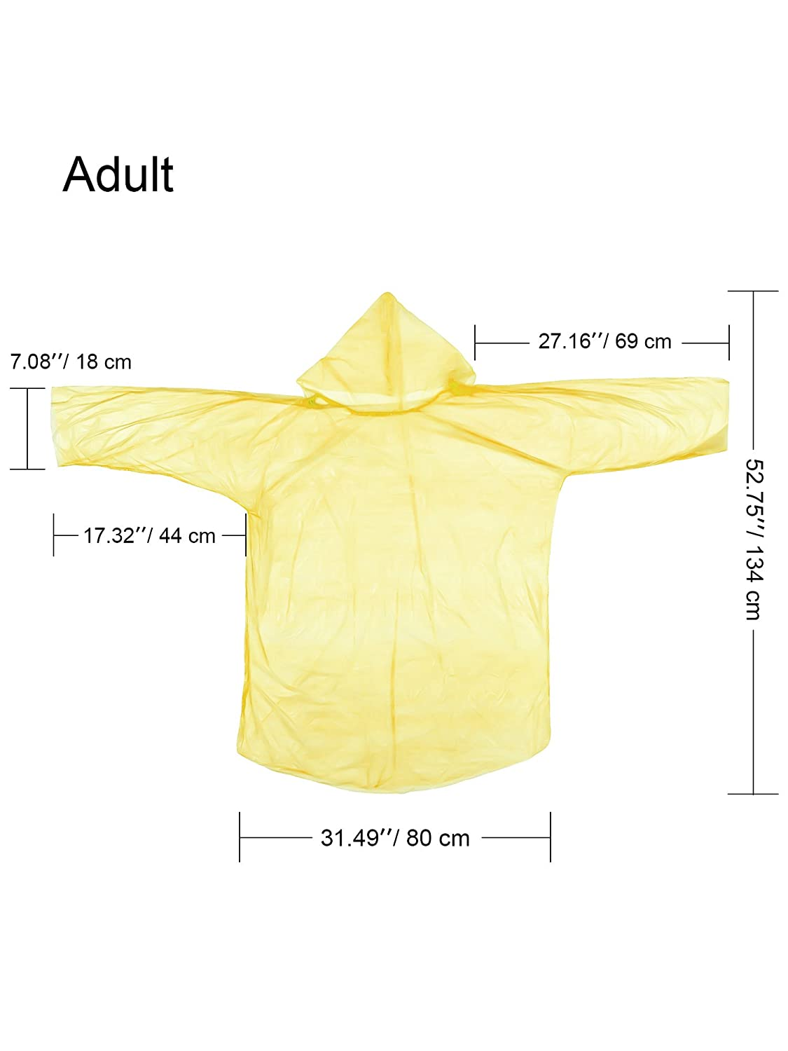 Jovitec 12 Pieces Rain Poncho Disposable Family Pack Poncho Emergency Rain Poncho for Adults Kids Outdoor Activities Multi-Color 6 Pieces for Adults and 6 Pieces for Kids