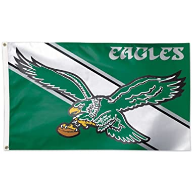WinCraft NFL Philadelphia Eagles 04110115 Deluxe Flag, 3' x 5'