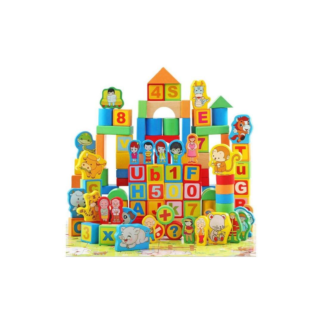 バーゲンで GLJJQMY GLJJQMY 子供の幼児教育玩具の二重樽の200錠を積み上げた木製のブロック B07P3GCMHP 子供の教育玩具 B07P3GCMHP, 家電のタンタンショップ プラス:914e93b6 --- arianechie.dominiotemporario.com