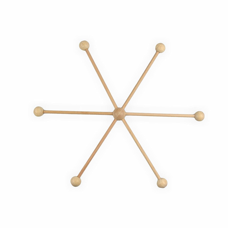 Creleo 791343 Mobilestern Holz 13 teilig 22 cm