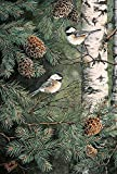 """Toland Home Garden Pinecone Chickadees Decorative Birds/Outdoors House Yard Flag, 28"""" by 40"""""""