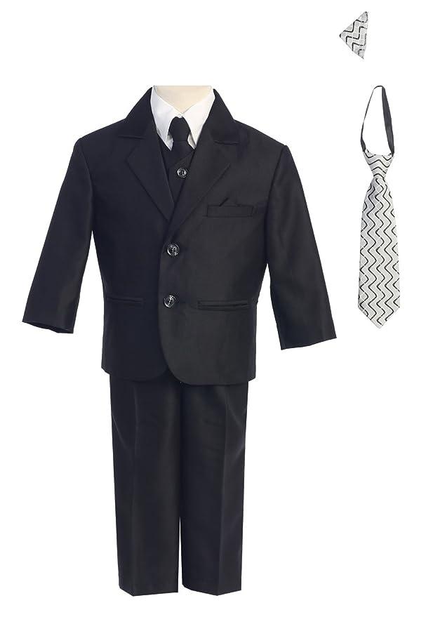 Amazon Boys 2 Button Herringbone Suit In Black Brown Navy
