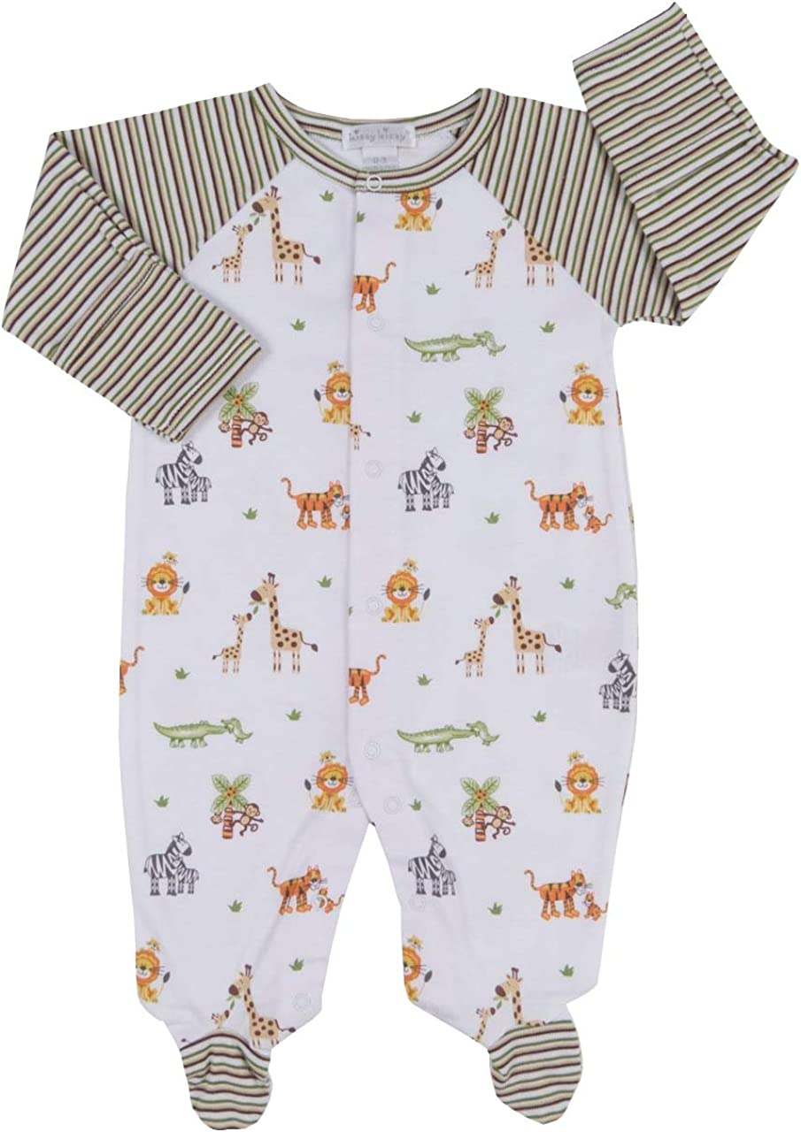 Kissy Kissy Baby-Boys Infant Jungle Out There Print Footie