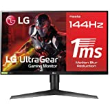 "LG 27GL650F-B - Monitor Gaming FHD de 69 cm (27"") con Panel IPS (1920 x 1080 píxeles, 16:9, 1 ms con MBR, 144Hz…"