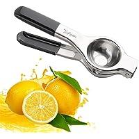 2x Zitronenpresse Zitruspresse Entsafter rund Buche Holz Presse Zitronen Orangen