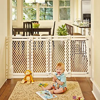 """Supergate Extra-wide Gate, Ivory, Fits Spaces Between 22"""" To 62"""" Wide & 31""""high 1"""