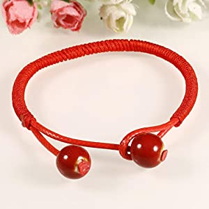 f5b84a7900cfe Women Lucky Ceramic Red String Ceramic Bracelet. MYEDO Women Lucky Ceramic  Red String Ceramic Bracelet