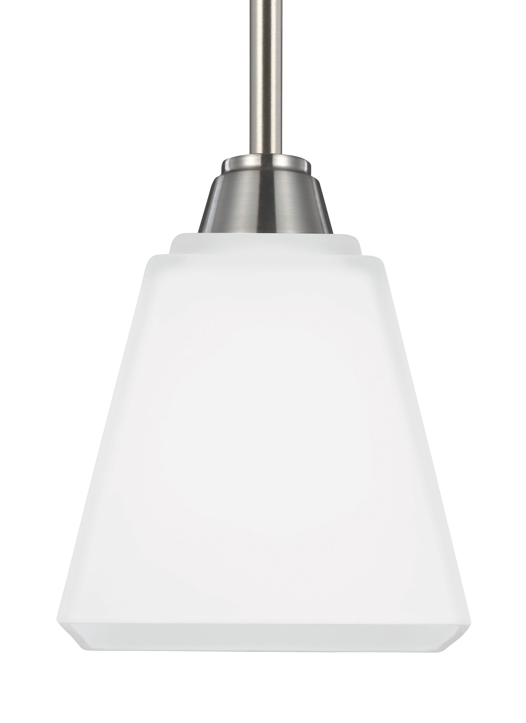 Seagull 6113001-962 One 6113001-962-One Light Mini Pendant Pwt, Nckl, B/S, Slvr. by Seagull (Image #1)