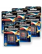 24 Pilhas AAA Palito Alcalina Premium Panasonic 6 Cartelas