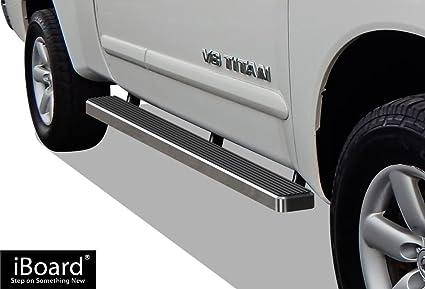 Nerf Bars   Side Steps   Side Bars APS iBoard Running Boards 5 Matte Black Custom Fit 2004-2019 Nissan Titan Crew Cab Pickup 4-Door /& 16-19 Titan XD