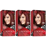 Revlon Colorsilk Beautiful Color, Permanent Hair Dye with Keratin, 100% Gray Coverage, Ammonia Free, 49 Auburn Brown…