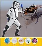 Vevin スズメ蜂 万全防護服 害虫駆除 スズメバチ駆除用蜂防護服 つなぎ服 通気性抜群