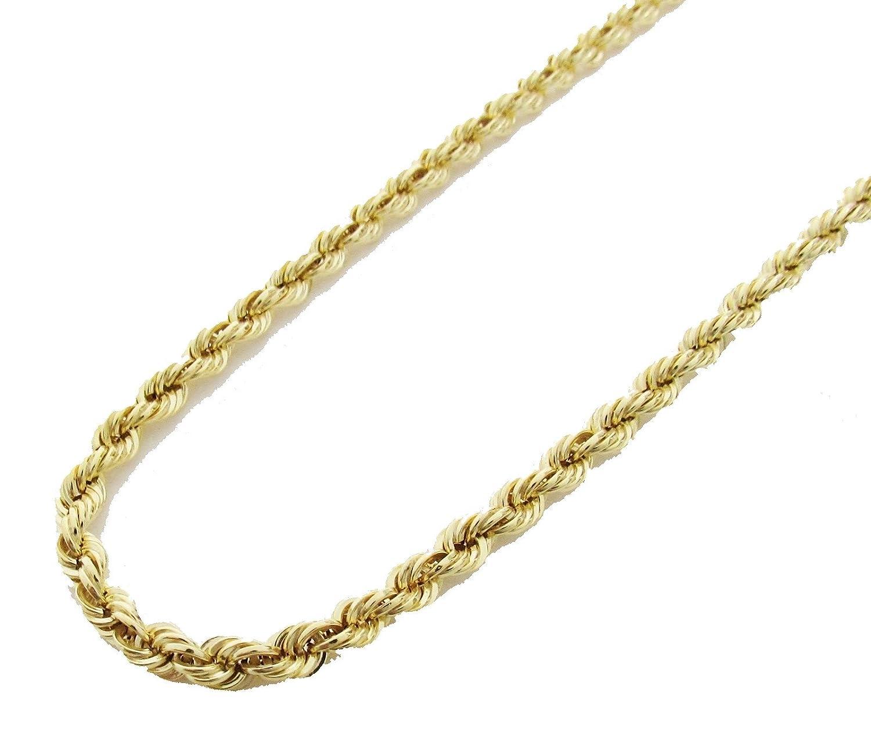 e27736c28c48d Amazon.com: 14K Yellow Gold Italian Rope Chain 22