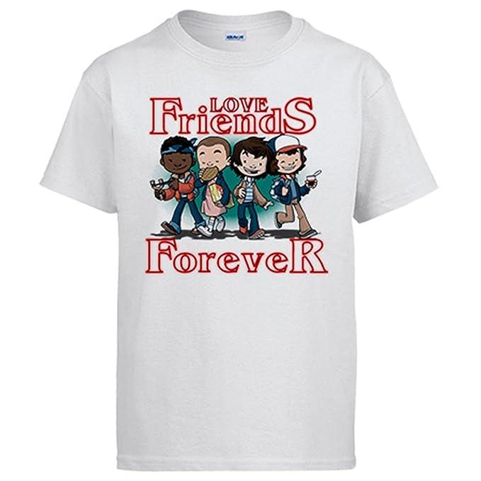 Diver Camisetas Camiseta Stranger Things Love Friends Forever Amigos: Amazon.es: Ropa y accesorios